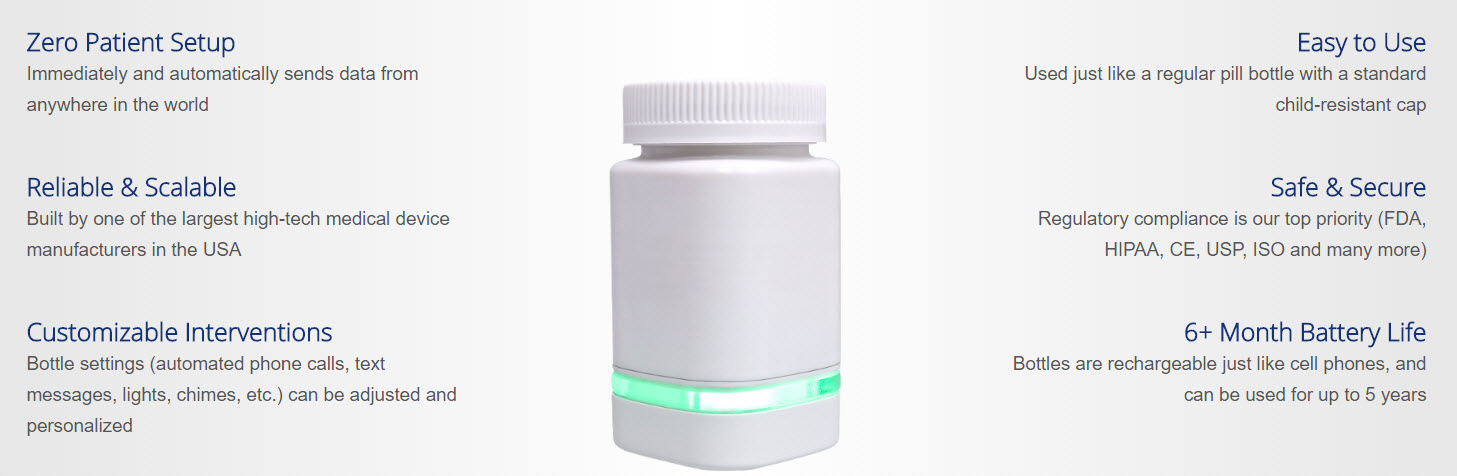 adheretech smart pill bottle features