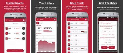 crushh texts analysis app screenshots