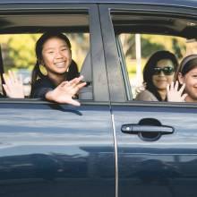 neighbor carpooling app for kids