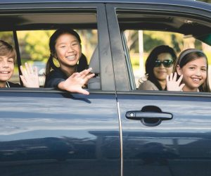 neighbor carpooling app for kids