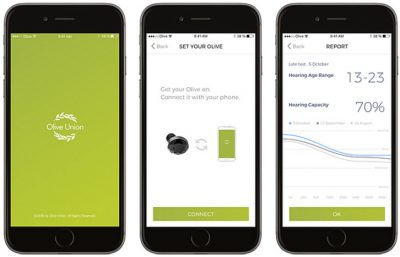 olive affordable hearing aid app