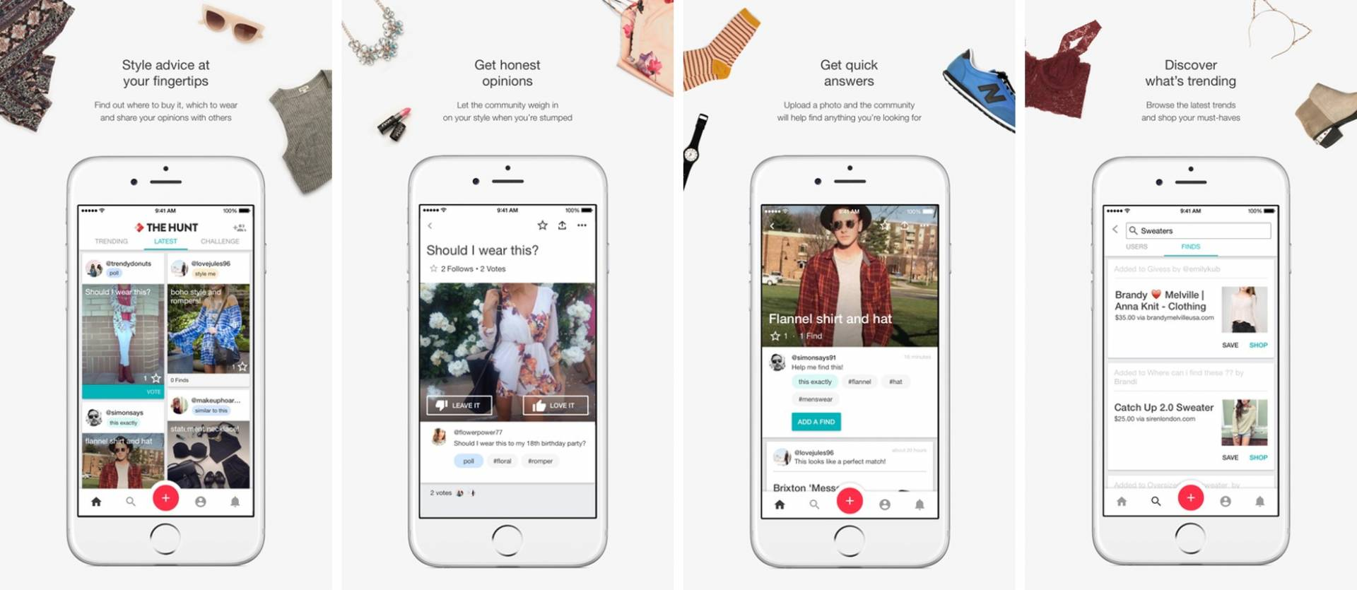 the hunt fashion app