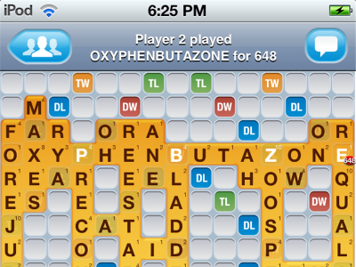 recordsetter words with friends snapmunk