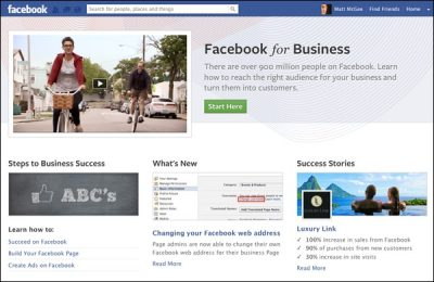 facebook business new