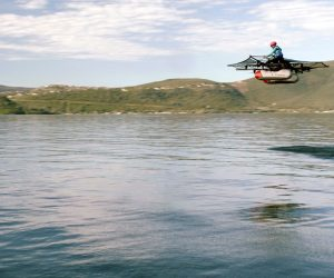 Video: An Ultralight Personal Flying Vehicle from Kitty Hawk