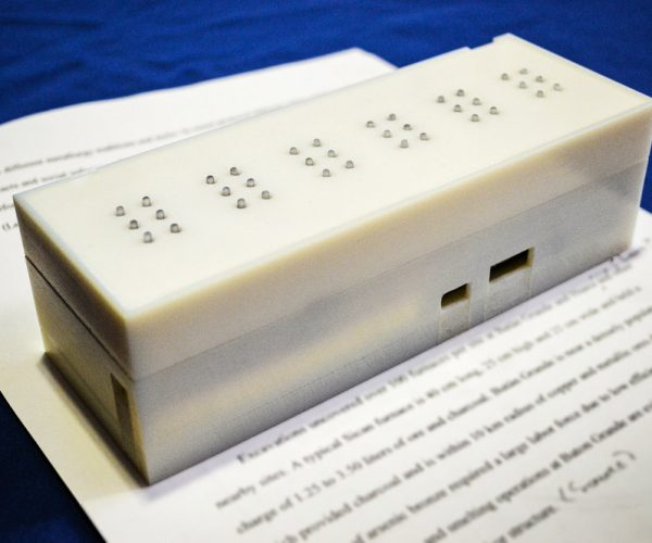MIT Researchers Develop A Text To Braille Scanner That's Portable And Inexpensive