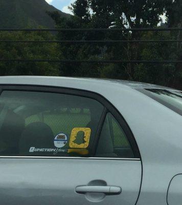 snapchat car sticker
