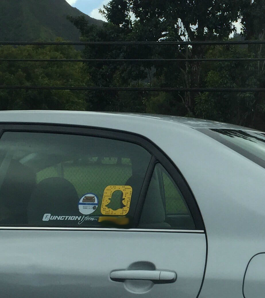 snapchat car sticker