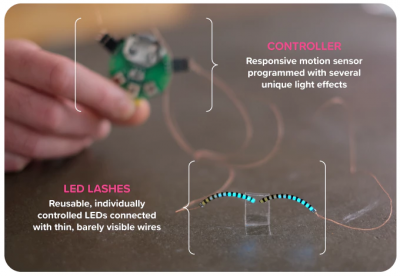 Weirdest Wearable Ever? Interactive LED Eyelashes Makes Crowdfunding Goal