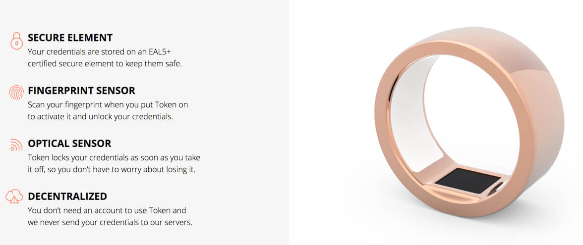token smart ring features