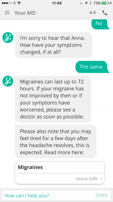 Can a AI Health Chat Bot Keep Patients from Going to the Doctor?