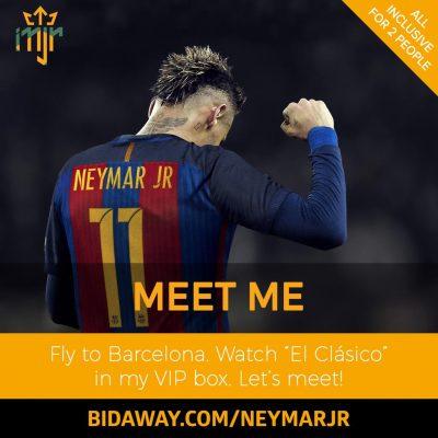 bidaway barcelona football neymar jr