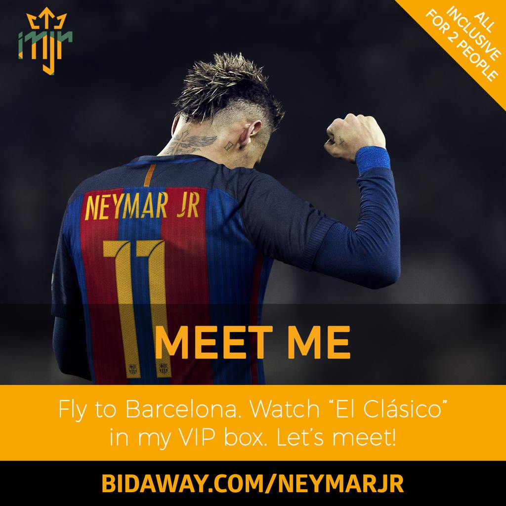 bidaway barcelona football neymar jr